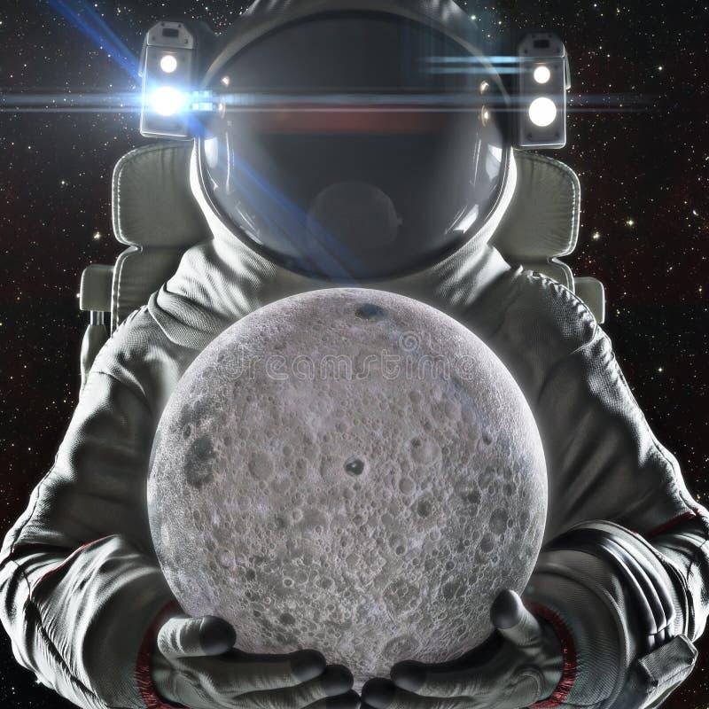 Retorne à lua ilustração stock