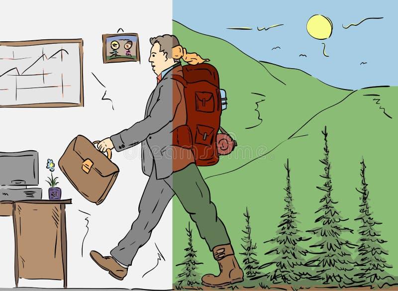 Retorne ao trabalho ilustração royalty free