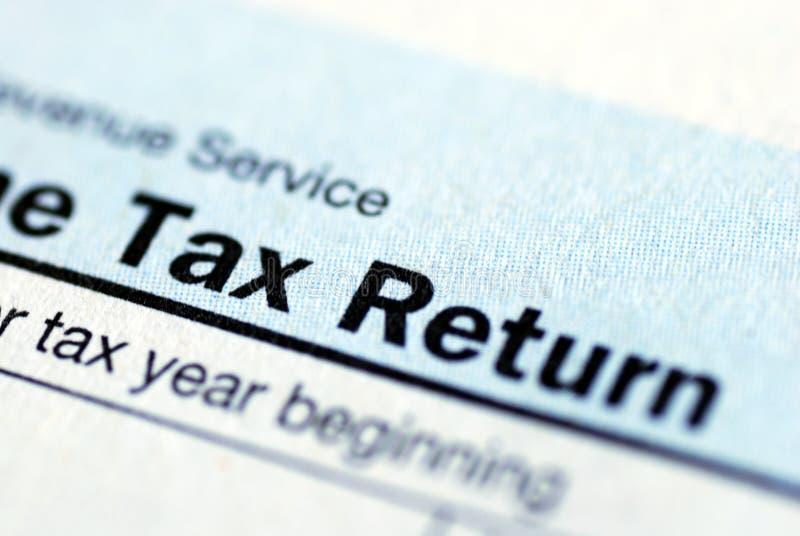 Retorno de imposto da renda imagem de stock