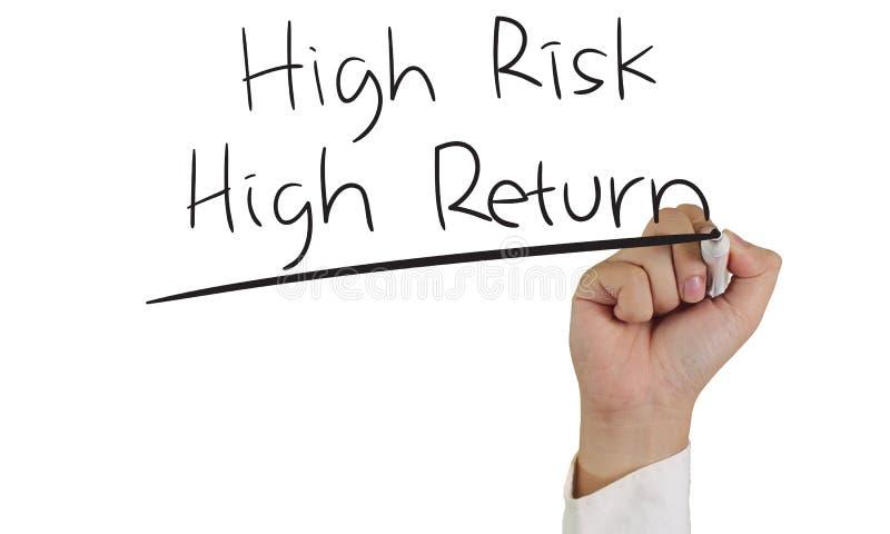 Retorno elevado do risco elevado imagem de stock royalty free