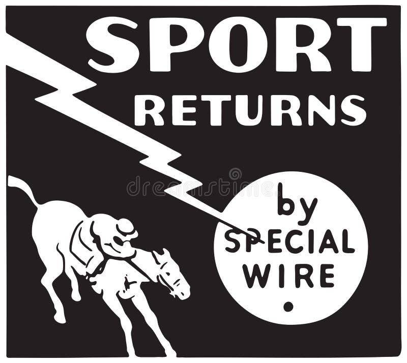 Retornos do esporte ilustração royalty free
