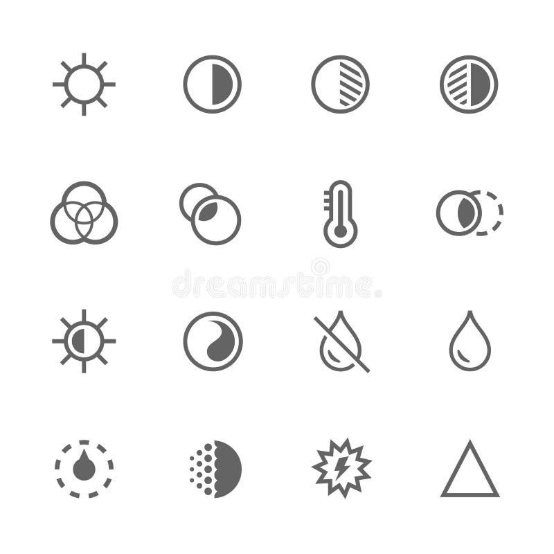 Retouche d'images simple illustration stock