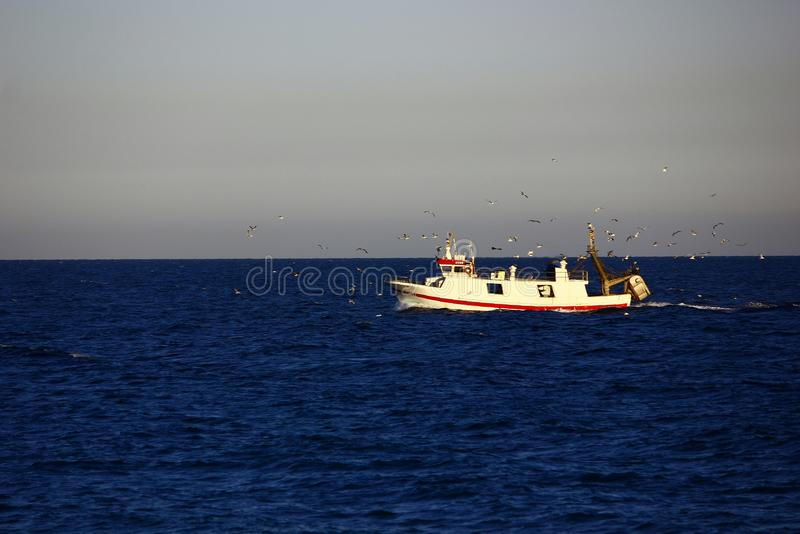 Retour de la pêche photo libre de droits