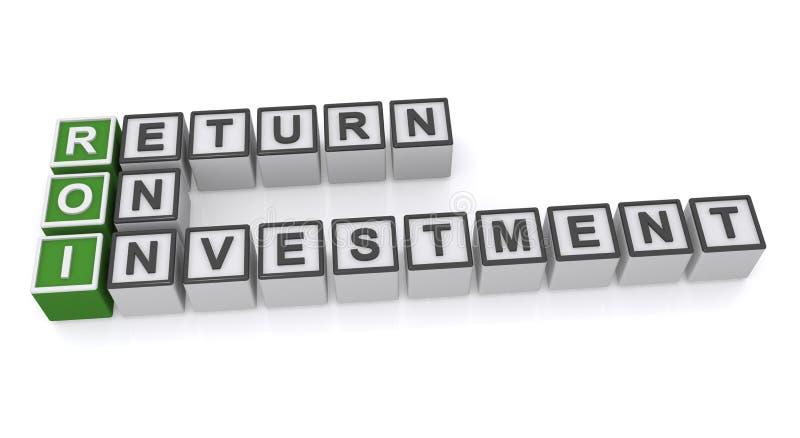 Retour sur l'investissement illustration stock