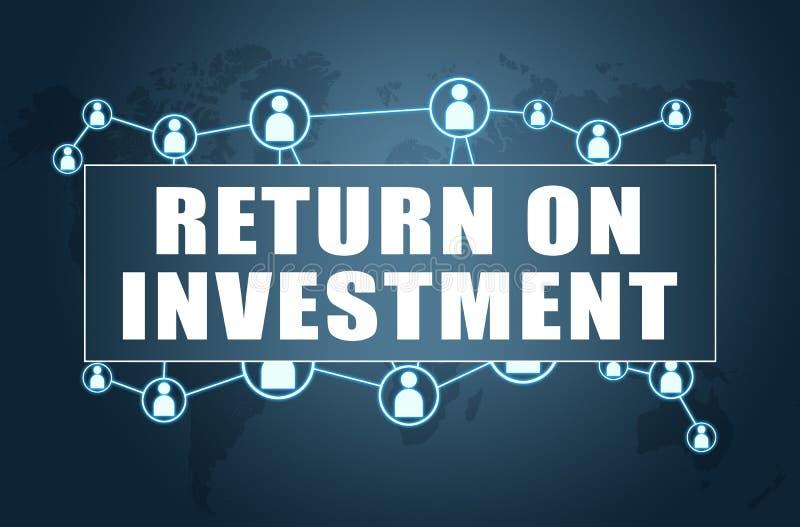 Retour sur l'investissement illustration de vecteur