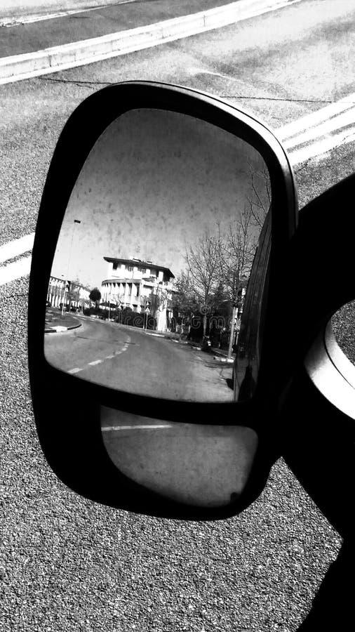 Retrò. Car City black&white stock photography