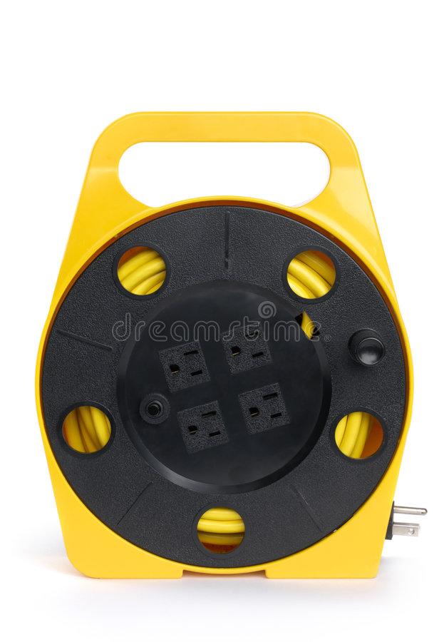 Download Retractable Extension Cord Reel Stock Image - Image: 8893257