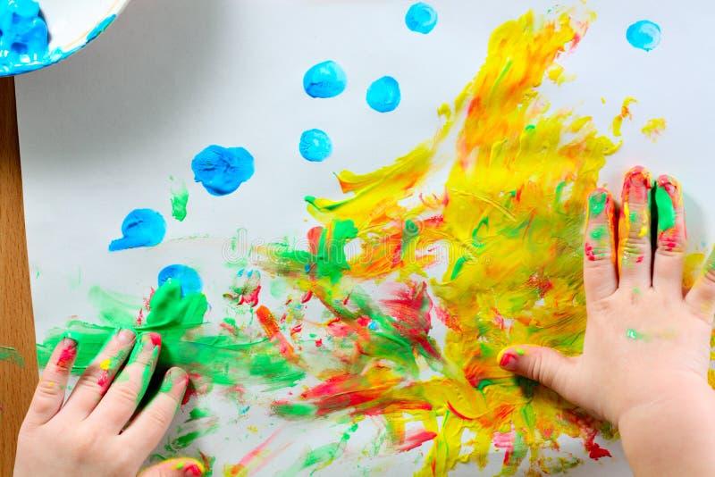 Retrait abstrait coloré photo stock