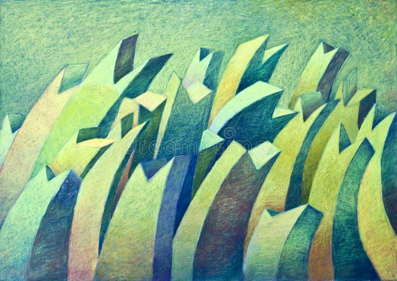 Retrait abstrait coloré de main. illustration libre de droits