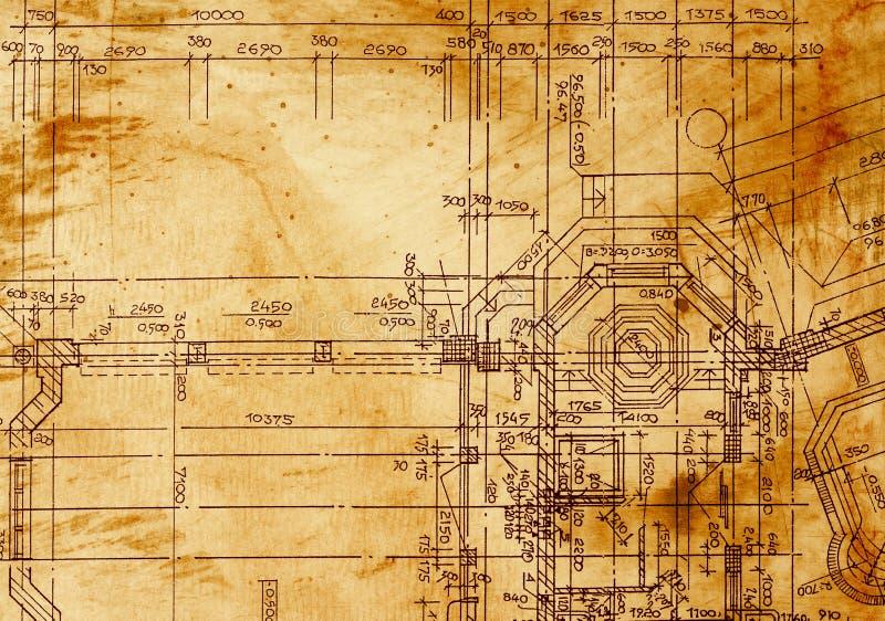 Dessin architectural de vintage illustration de vecteur