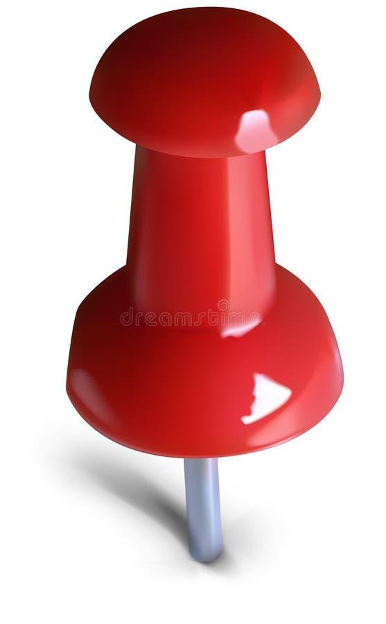 Retrait-broche rouge illustration de vecteur
