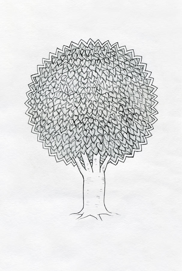 Retrait d'arbre. illustration libre de droits