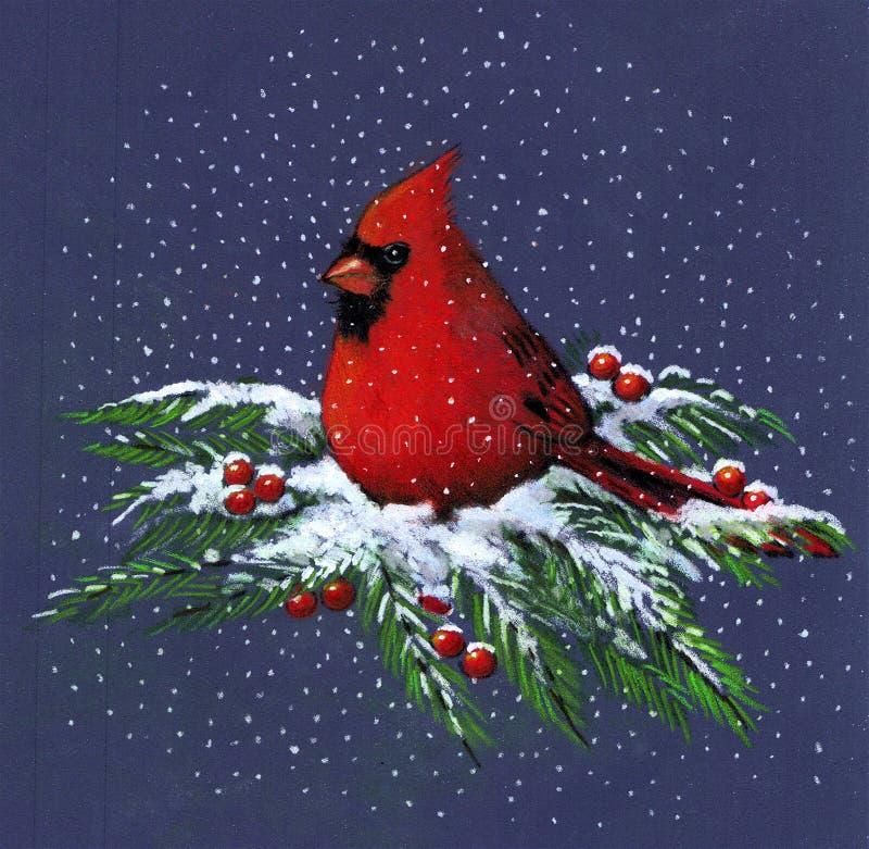 Retrait de cardinal dans la neige