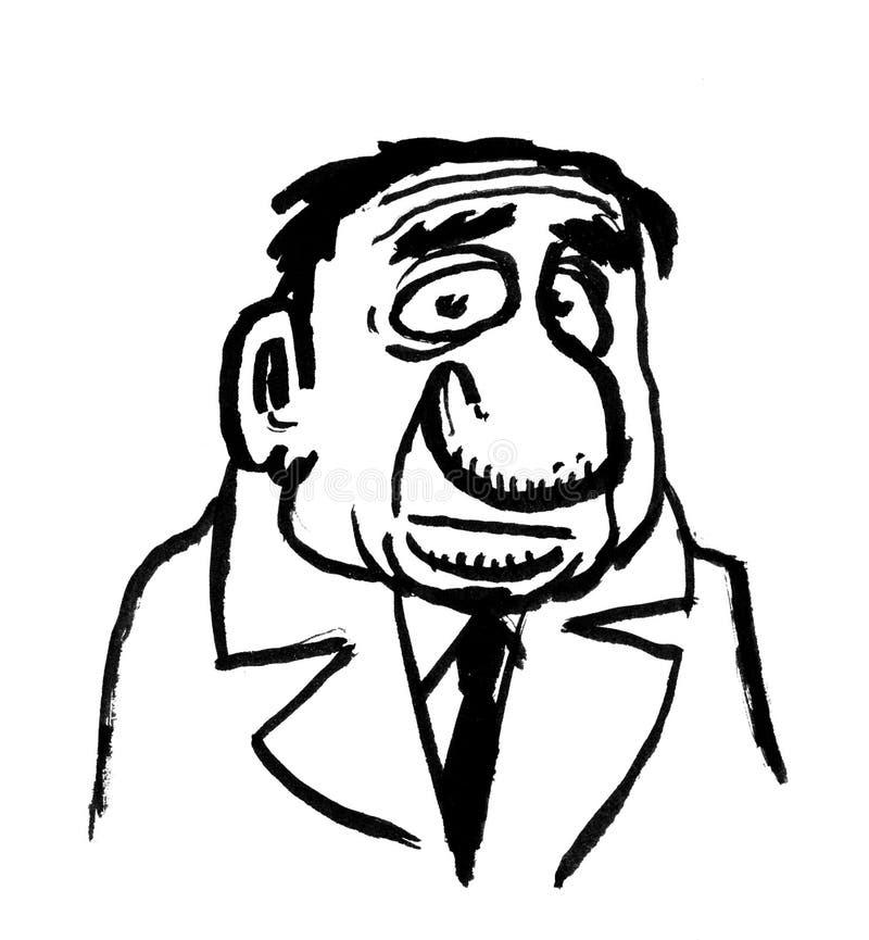 Retrait de dessin animé de bossage illustration de vecteur