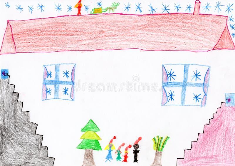 Retrait de Noël des enfants photo stock