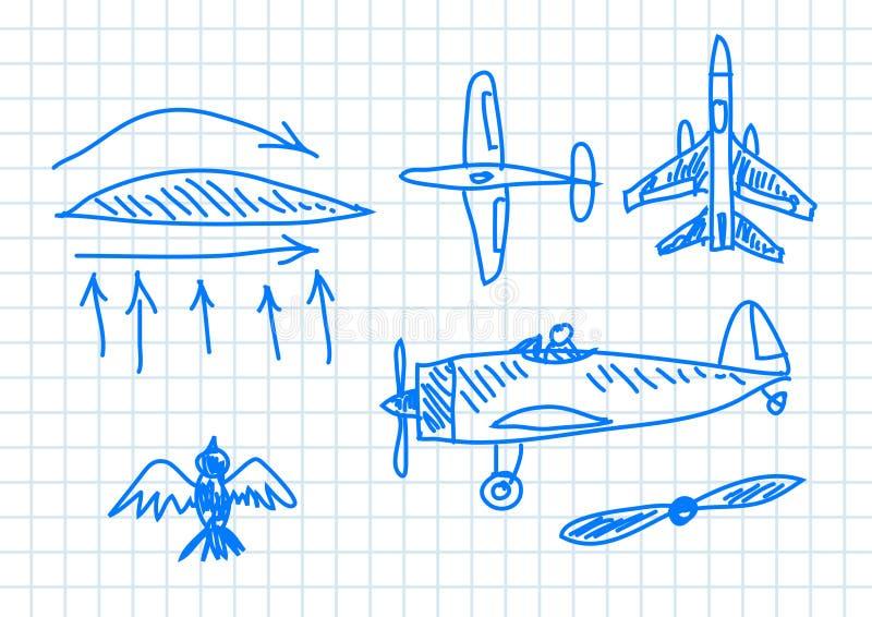 Retrait des aéronefs illustration de vecteur