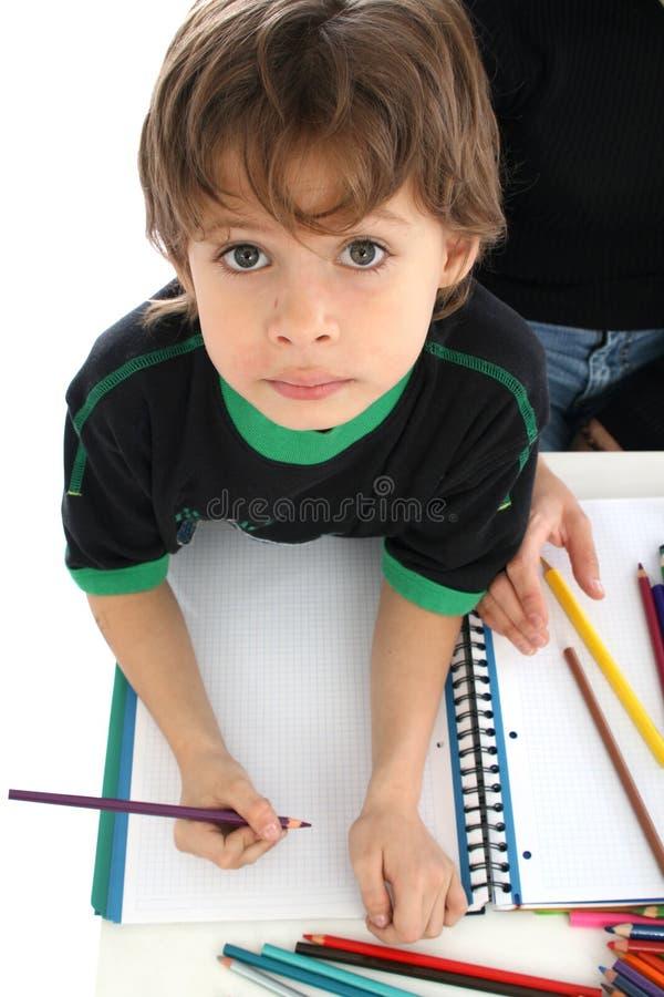 Retrait et crayons photos libres de droits