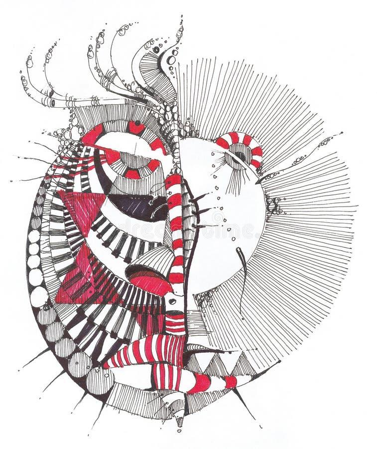 Retrait géométrique abstrait illustration stock