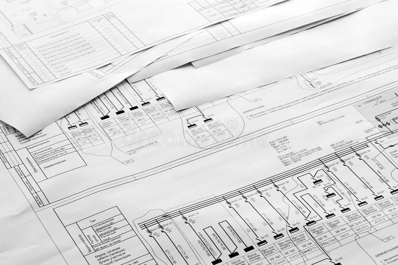 Retraits de plan architectural photos libres de droits