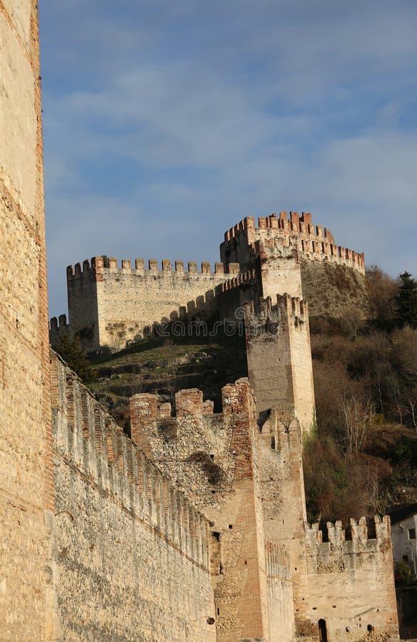 Retranchez-vous la prison médiévale antique de Soave dans la province de Vérone i photo stock