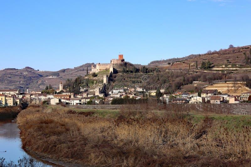 Retranchez-vous la prison médiévale antique de Soave dans la province de Vérone i images stock