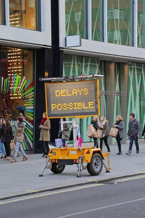 Retrasos Londres posible imagen de archivo libre de regalías