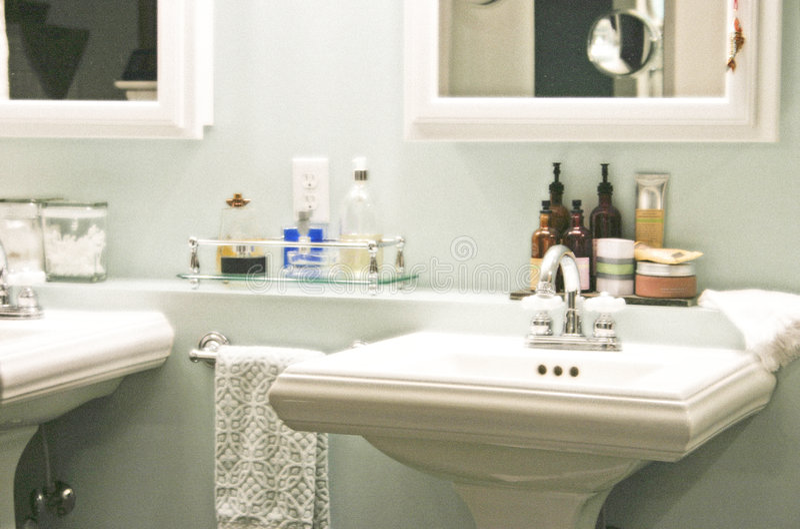 Retratamiento del cuarto de baño fotografía de archivo