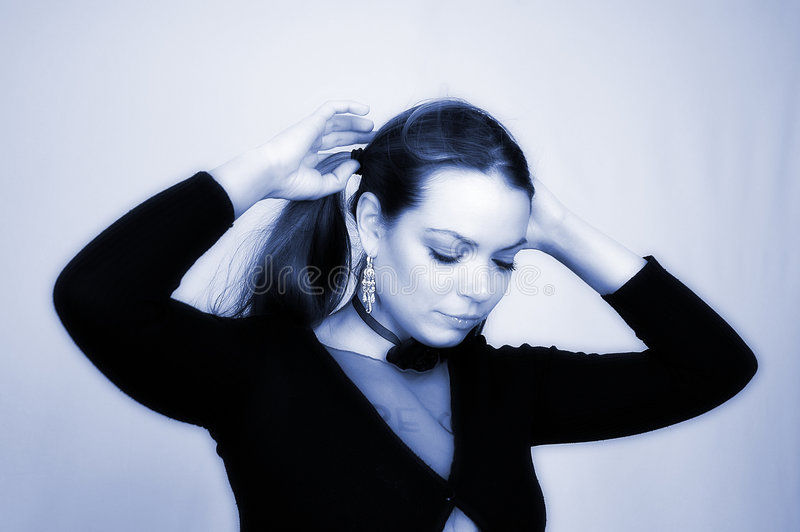 Retrato -21 de la mujer imagenes de archivo