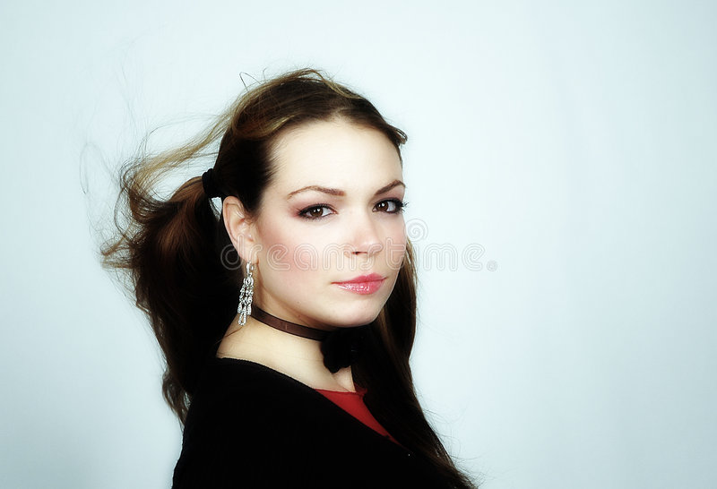 Retrato -22 da mulher foto de stock royalty free
