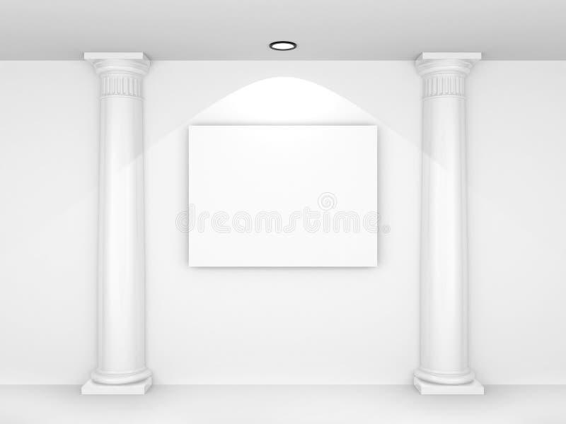 retrato 3d em branco ilustração do vetor