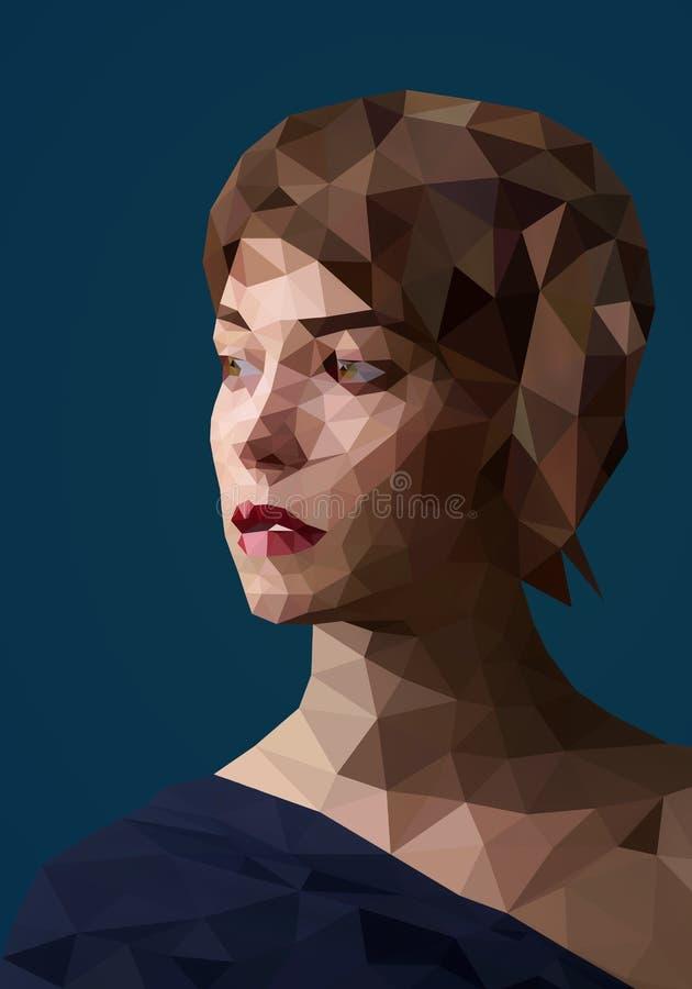 Retrato ilustração stock