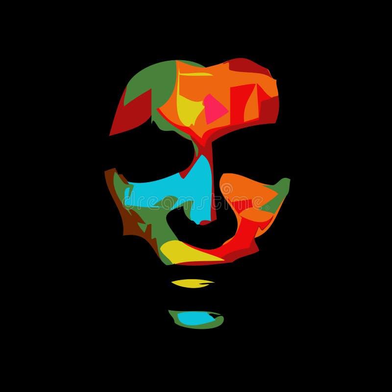 Retrato abstracto de la mujer ilustración del vector