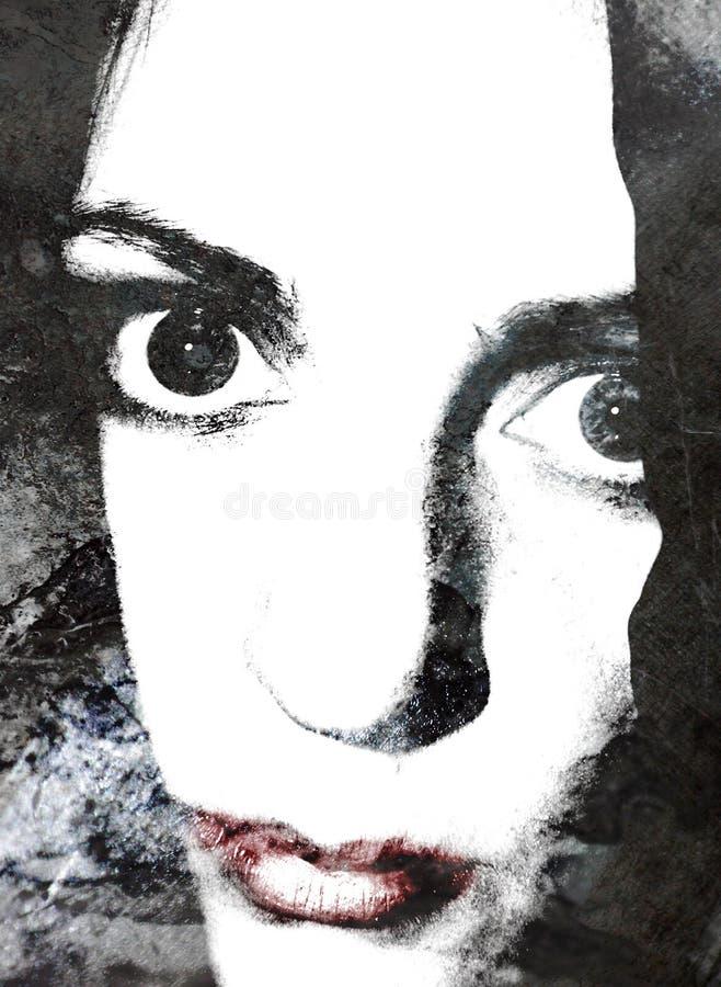 Retrato Abstrato Dos Bordos Da Mulher Imagens de Stock