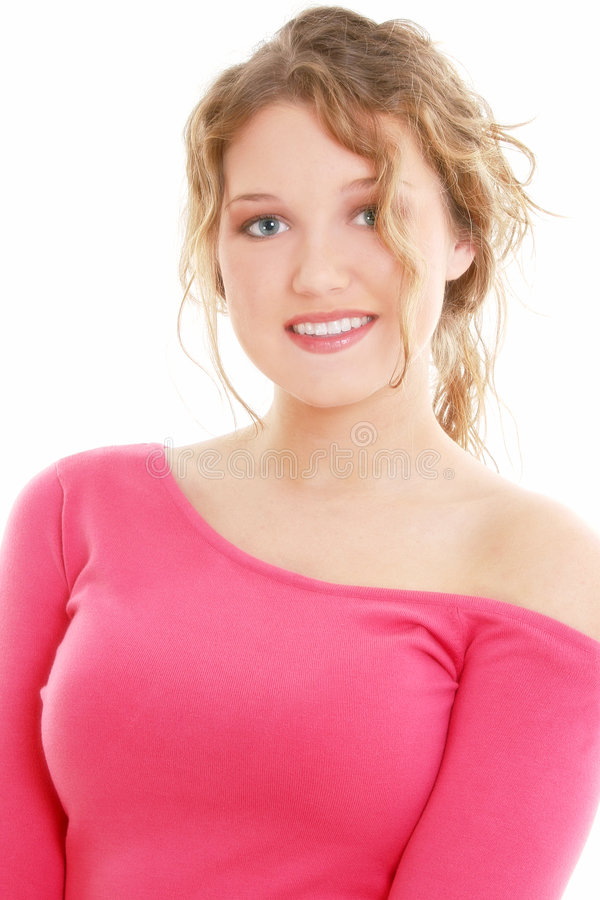 Retrato adolescente da menina dos anos de idade dezesseis bonitos fotografia de stock