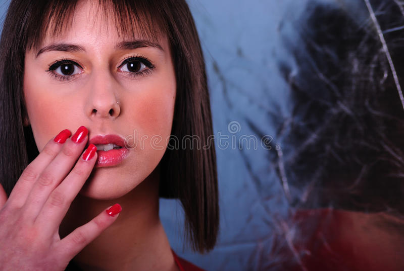 Retrato adolescente en color vivo imagen de archivo