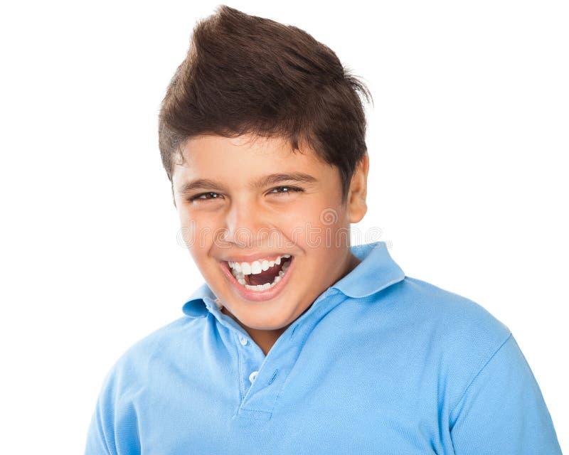Retrato adolescente feliz do menino fotografia de stock