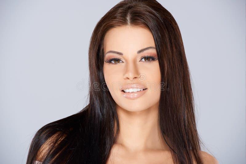 Retrato adorável da mulher foto de stock