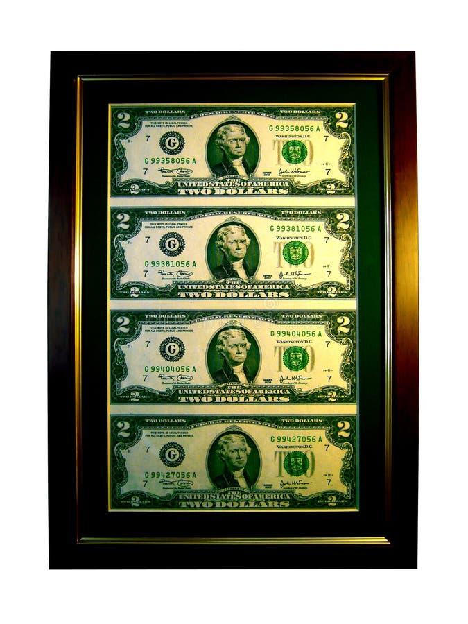 Download Retrato Afortunado De Dois Dólares Foto de Stock - Imagem de verde, isolado: 533522