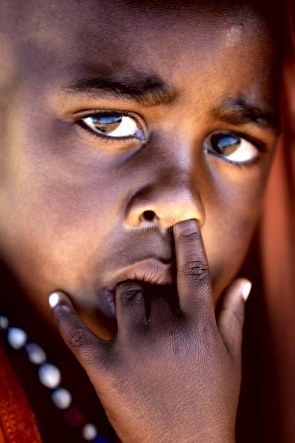 Retrato africano da criança fotografia de stock