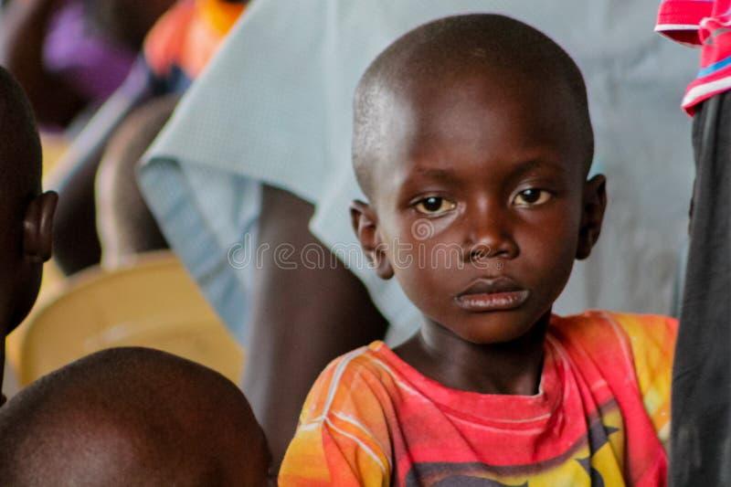 Retrato africano da criança pequena, menino africano foto de stock royalty free