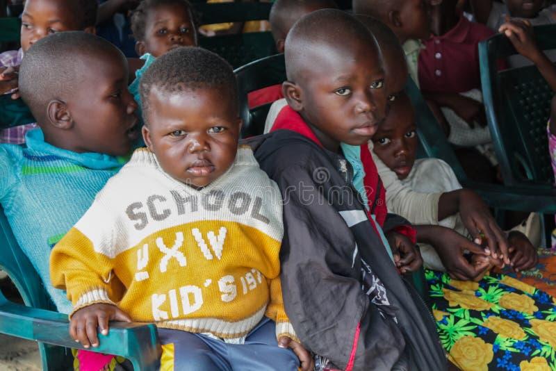 Retrato africano da criança pequena, menino africano fotografia de stock royalty free