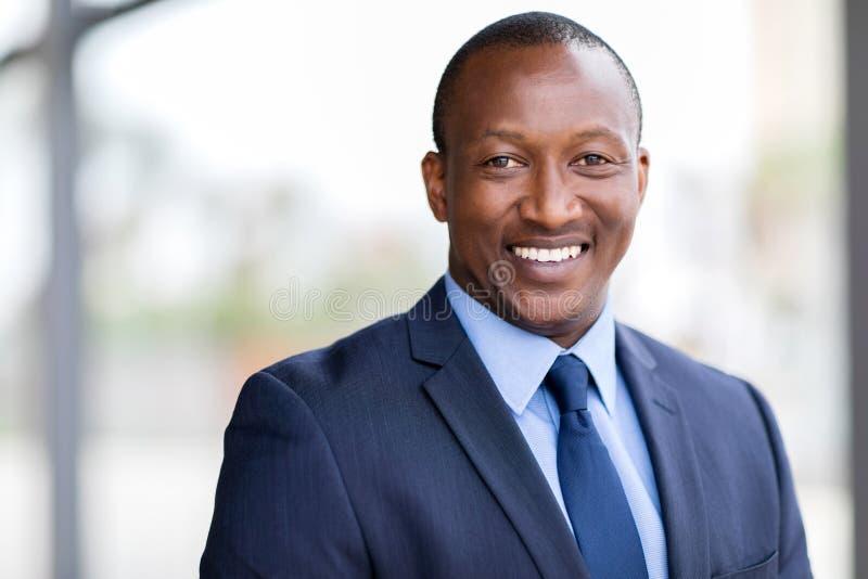 Retrato africano do homem de negócio fotos de stock