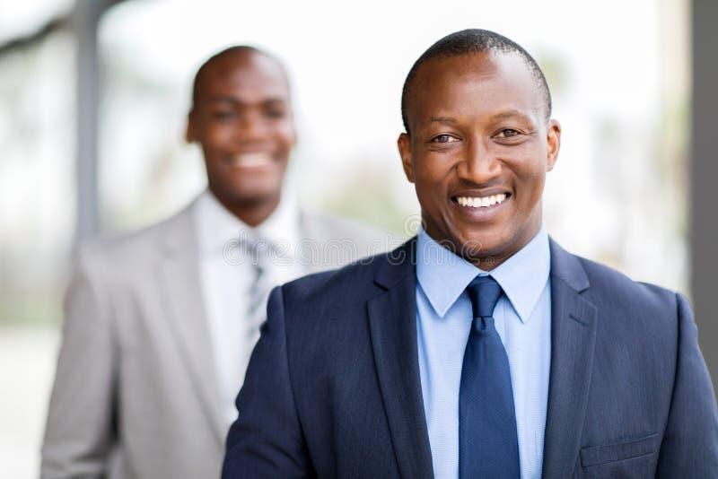 Retrato africano do homem de negócios fotos de stock