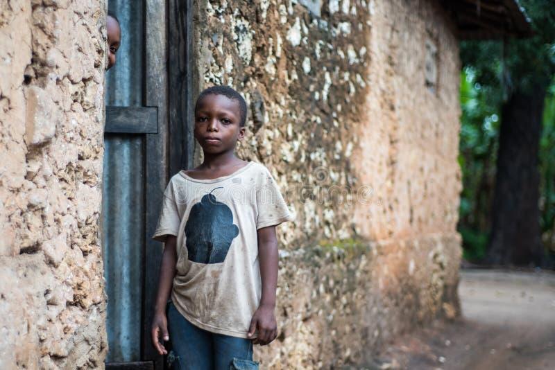 Retrato africano do menino fotos de stock