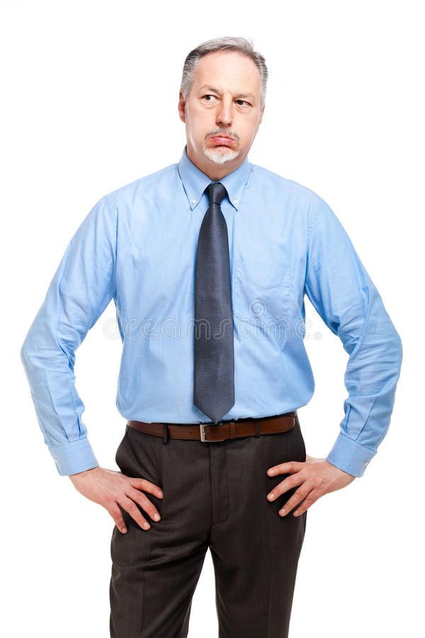 Retrato agujereado del hombre de negocios foto de archivo libre de regalías