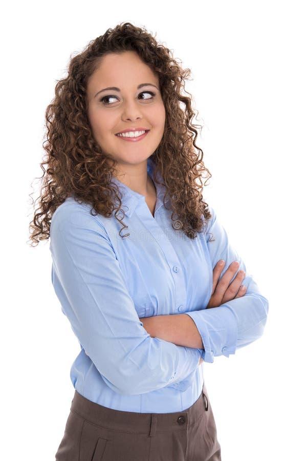 Retrato aislado de una empresaria joven para una candidatura o fotografía de archivo libre de regalías