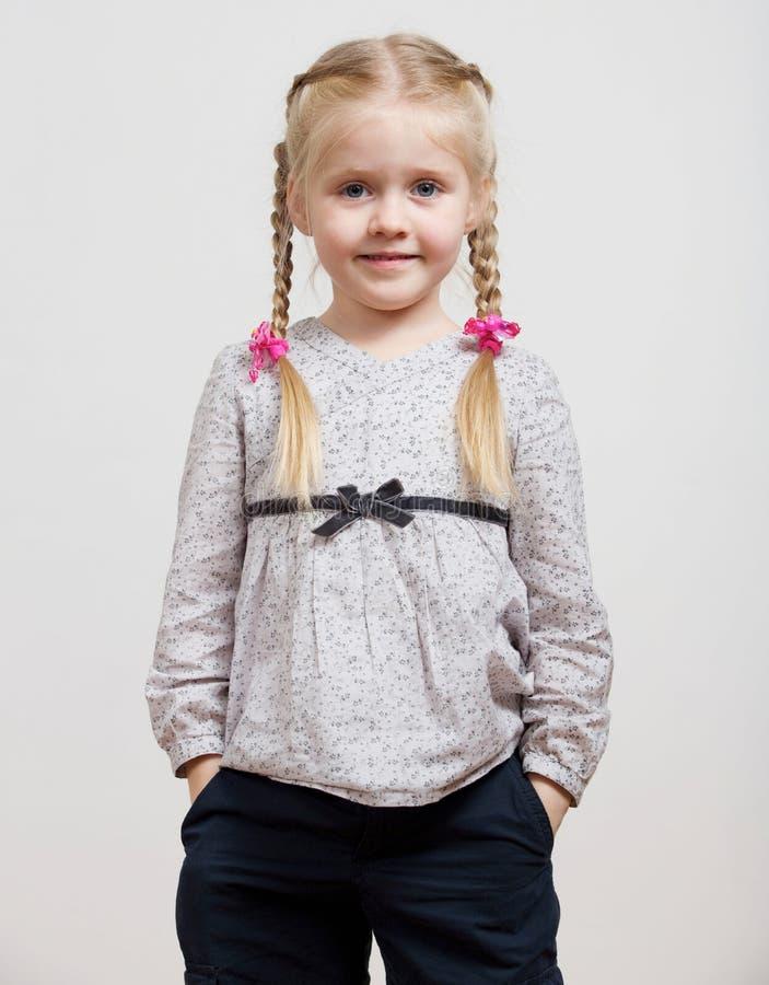 Retrato aislado moda de la muchacha del ni?o imagen de archivo libre de regalías