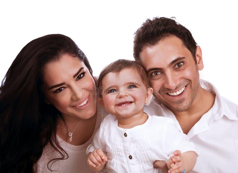Retrato alegre de la familia fotos de archivo