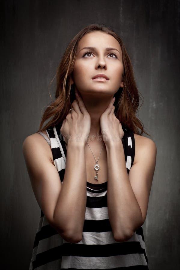 Retrato artístico de uma rapariga fotografia de stock royalty free