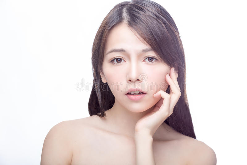 Retrato asiático da beleza fotografia de stock
